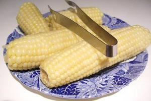 Boiled White Corn