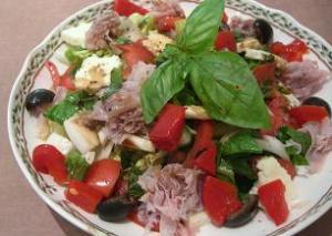 Italian Ham and Mozzarella Salad
