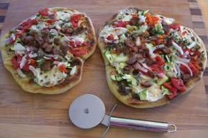 Grilled Sausage and Veggie Pizzas