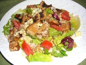 Crunchy Corn and Crouton Salad