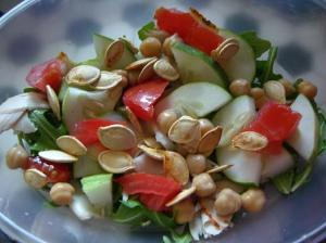Pumpkin Chick Pea Salad