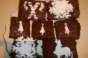 Let It Snow Brownies