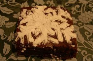 Let It Snow Snowflake Brownie