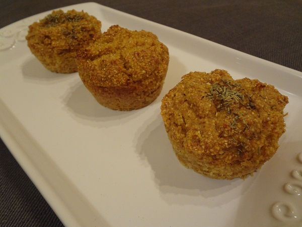 Hearty Rosemary Corn Muffins