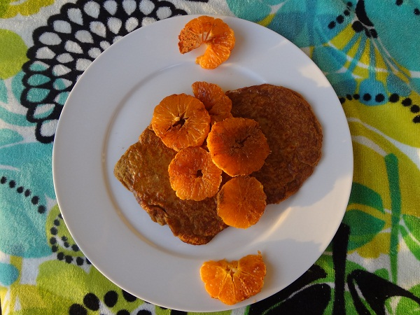 Perfect Pumpkin Pancakes with Cinnamon-Sugar Clementine Rings