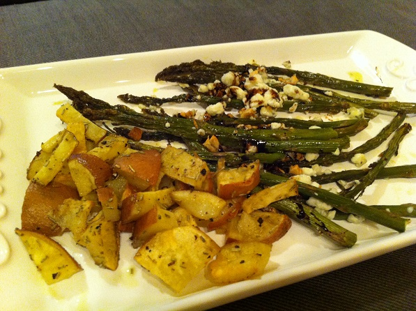 The only thing better? Serving it with  Balsamic-Glazed Roasted Asparagus with Crumbled Blue Cheese.