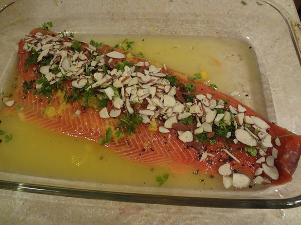 The salmon even looked beautiful raw!