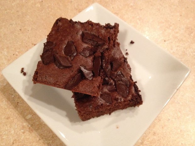 Mocha Black Bean Brownies