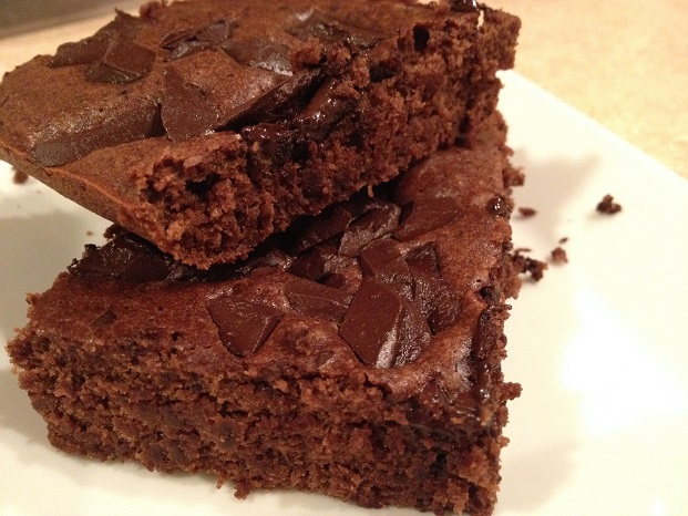 Chocolate cake-like brownies with a hint of coffee. You would never know there are black beans in them...