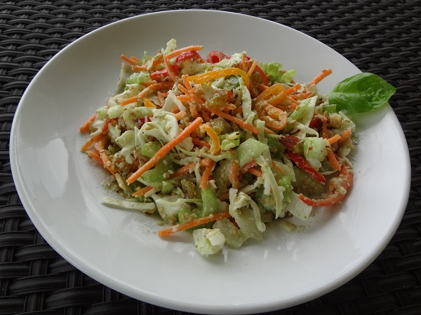 Citrus Ginger Slaw with Yogurt Dressing