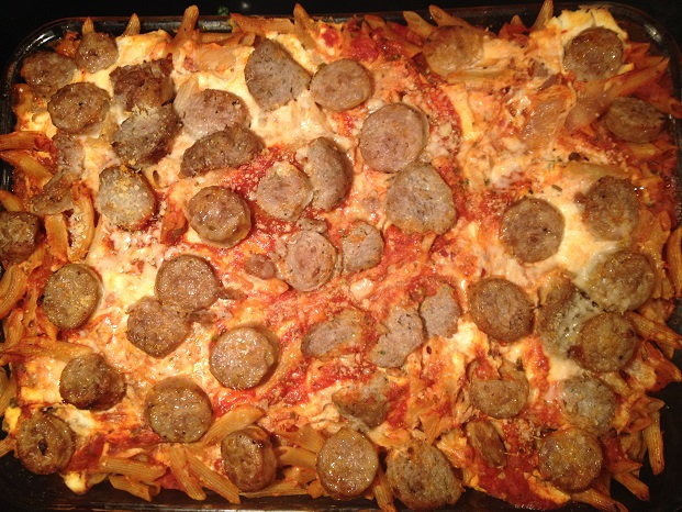Pork Meatball and Sausage Ziti