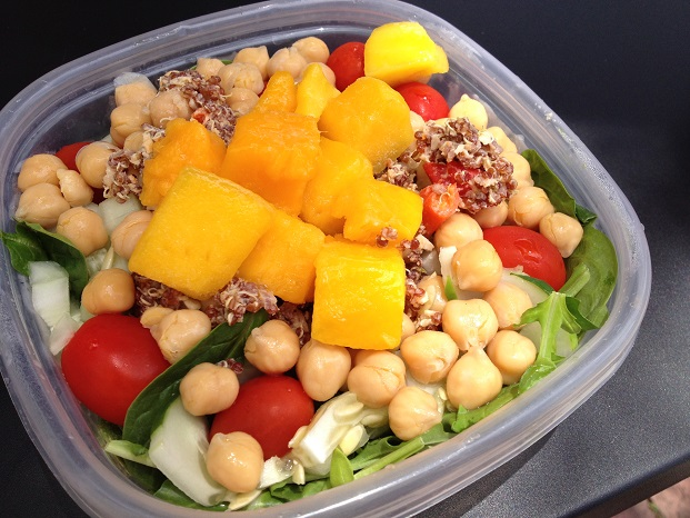 Try it on a salad with mango, chickpeas, cucumber, cherry tomatoes, and whatever your heart desires
