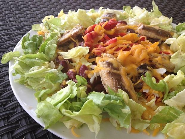 Sardine Nacho Salad