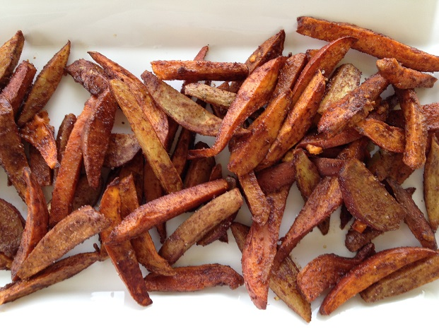 Cinnamon Spice Sweet Potato Strips