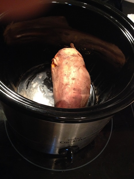 Sweet potato in the slow cooker- ready to eat