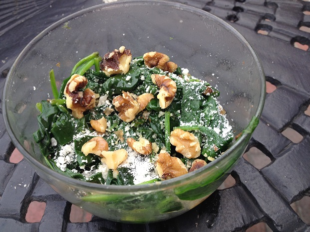 Not your average spinach... with crunchy walnuts, savory garlic, and salty cheese, it's worth writing home about